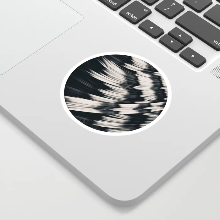 Zebra Strain. Abstract Zebra Stripes Sticker by lovefi