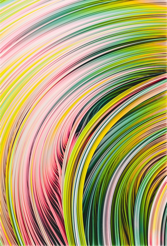 Stranded Strain III.  Yellow Green Pink  by Stephen Geisel, Love-fi