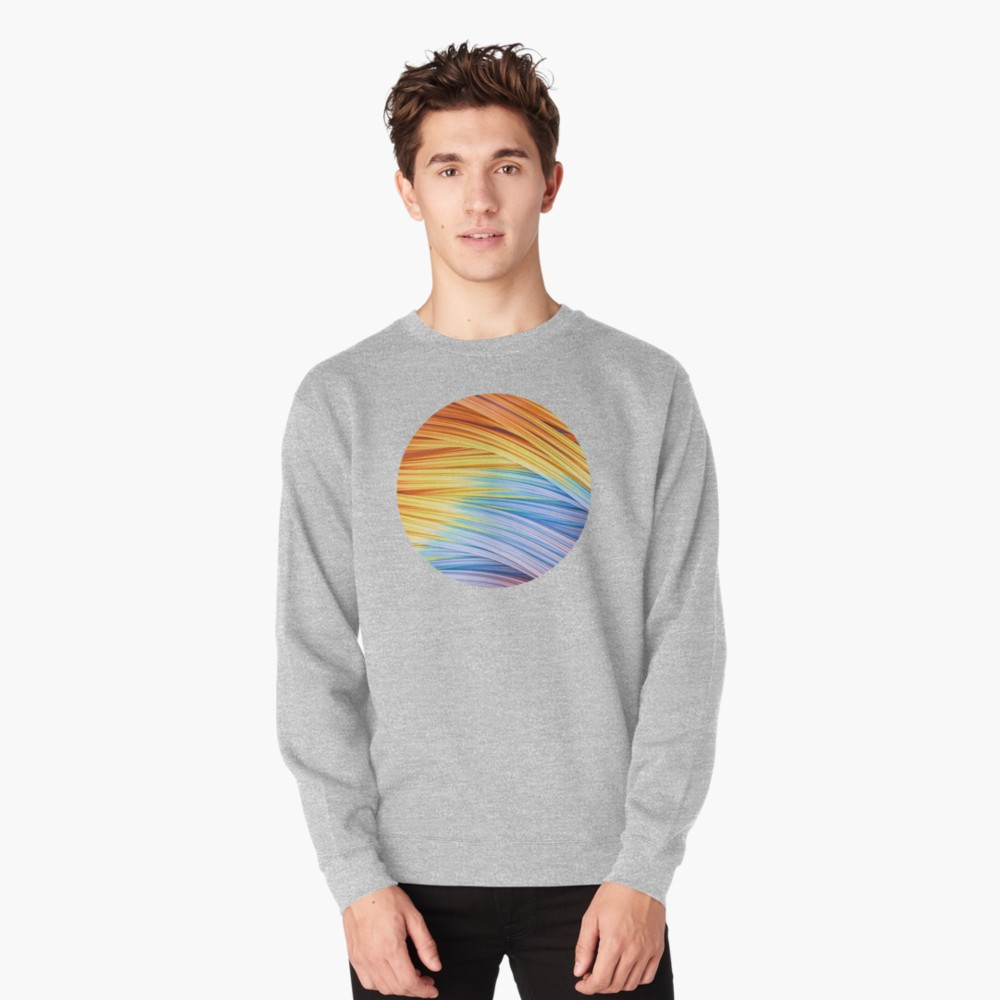 Pastels at Dawn, Abstract Strands. Pull-over Sweater by lovefi