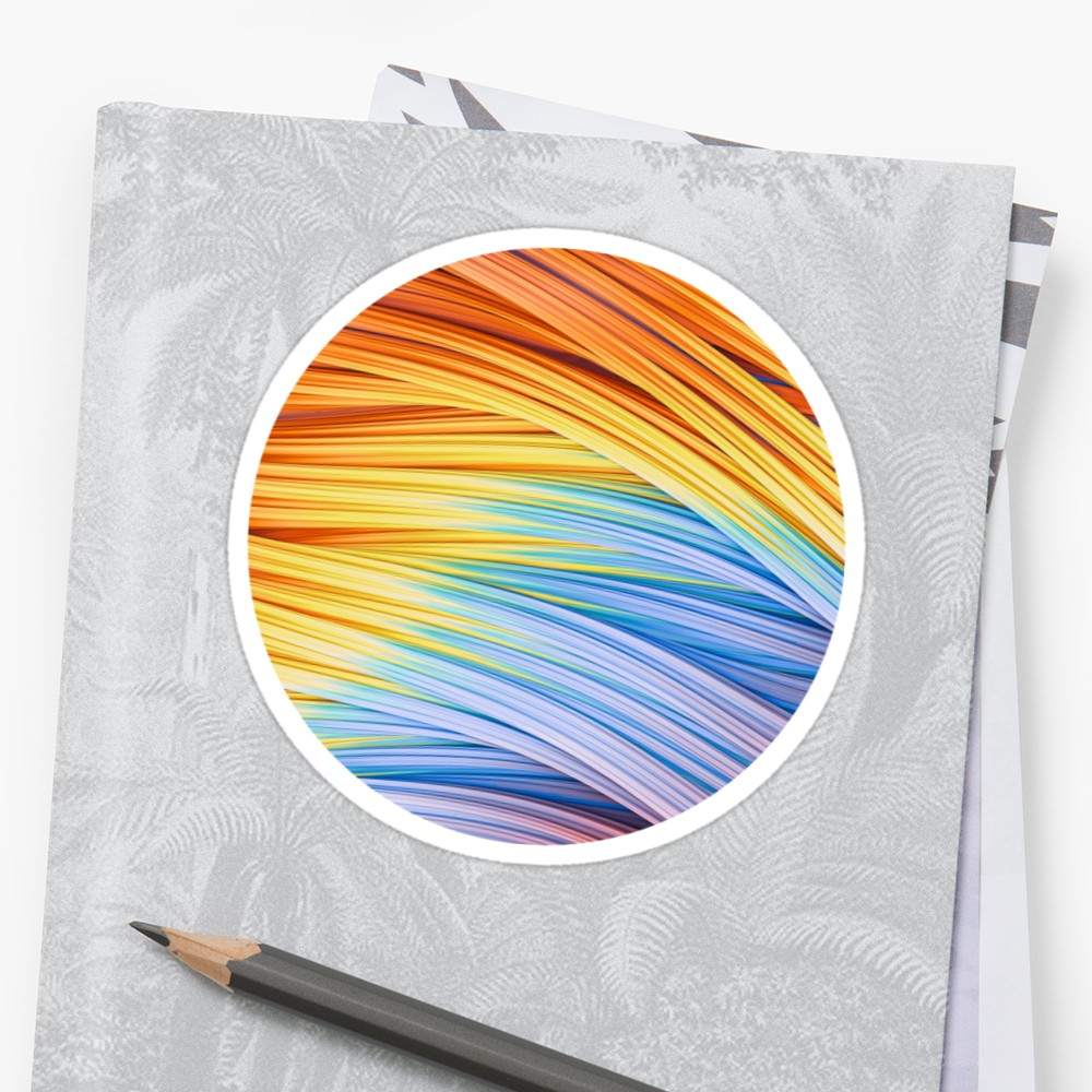 Pastels at Dawn, Abstract Strands. Sticker by lovefi