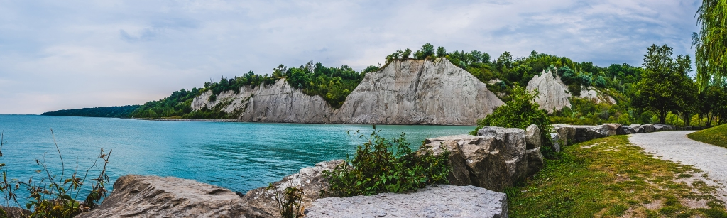 Scarborough Bluffs Panoramic I  By Stephen Geisel, Love-fi