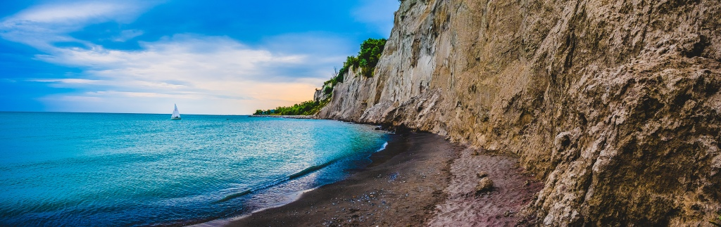 Scarborough Bluffs Panoramic V. By Stephen Geisel, Love-fi