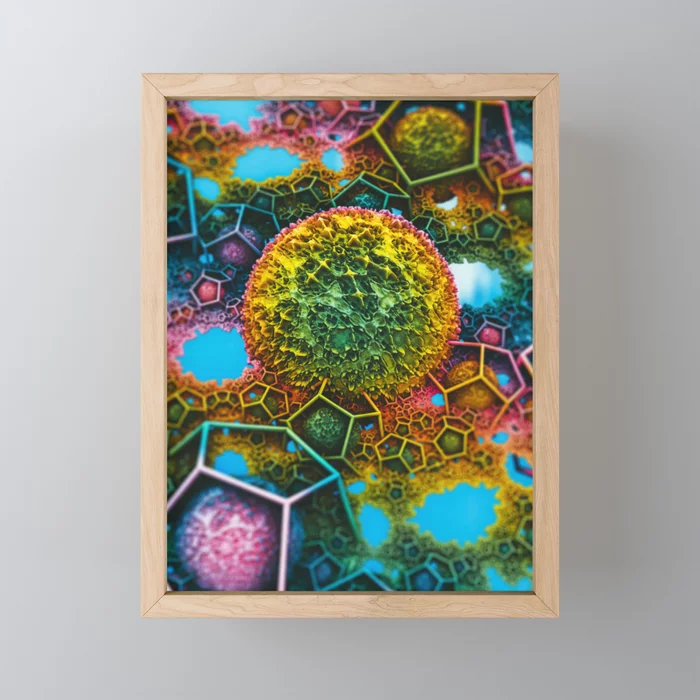Springtime Plasma Rock. Framed Mini Art Print by lovefi