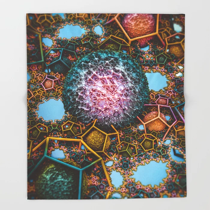 Springtime Plasma Rock IV. Abstract Design Throw Blanket by lovefi