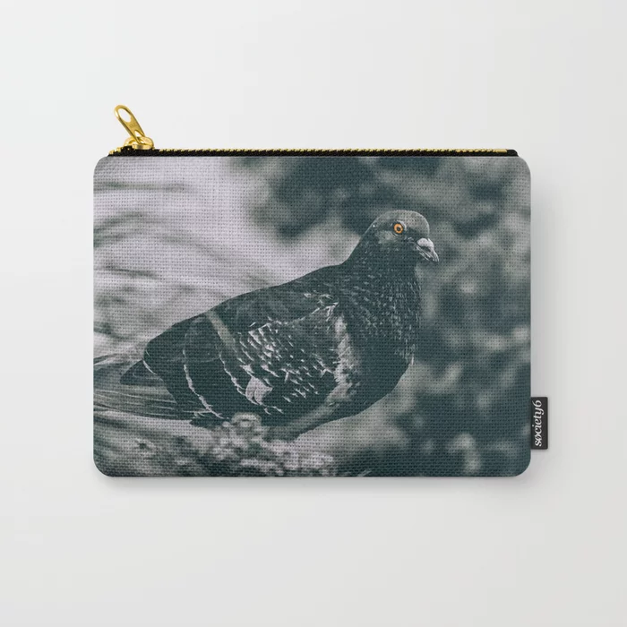 City Bird. Black and White Photograph Carry-All Pouch by lovefi