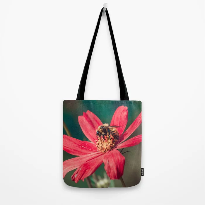 Pollen Collection II. Bee Photograph Tote Bag by lovefi