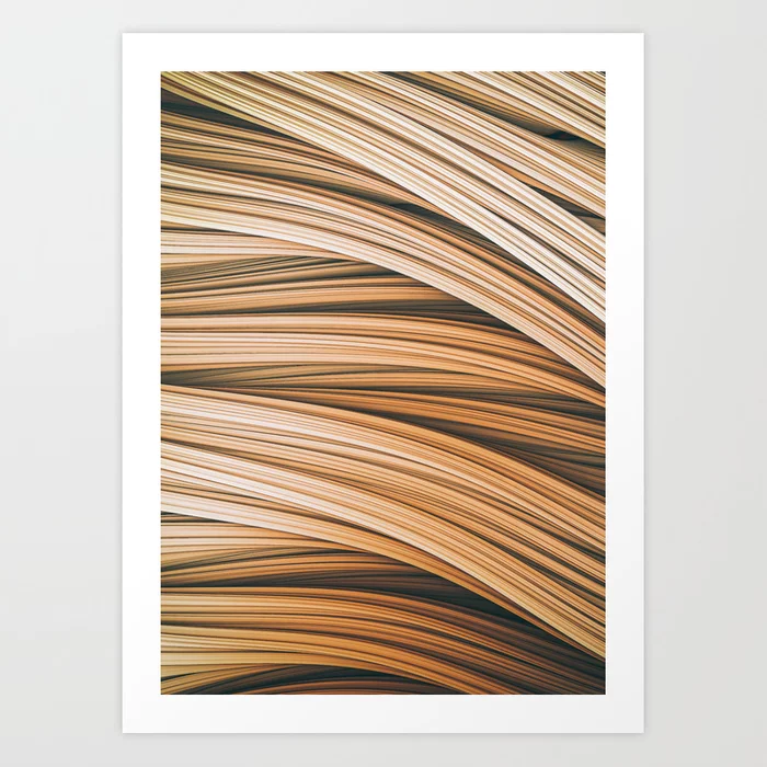 Beige Strands. Art Print On Society6 by lovefi