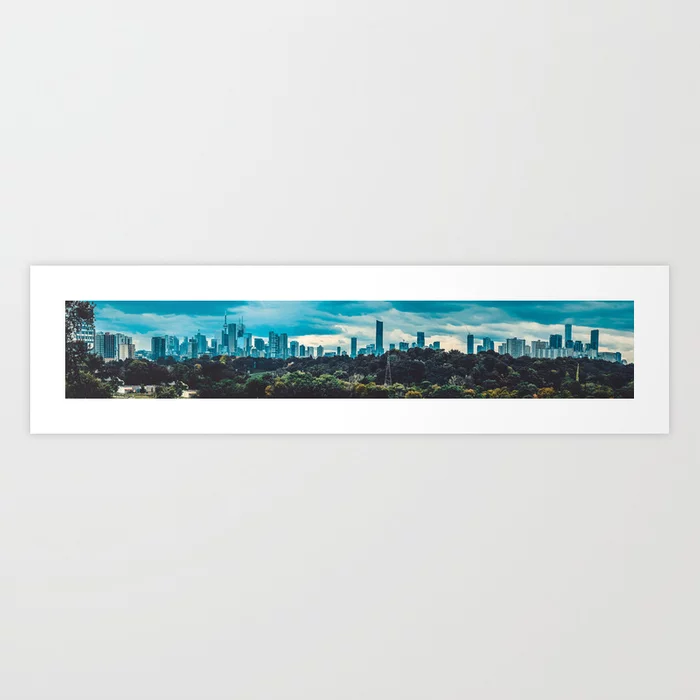 Toronto Cityscape Panoramic Photograph. Riverdale Park East Art Print  by lovefi