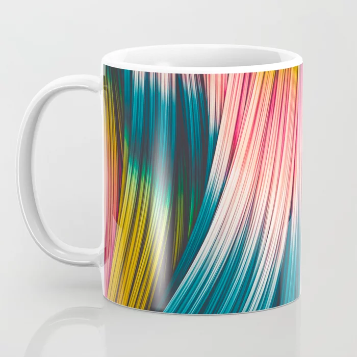 Bubble Gum Strand. Abstract Strands Design Coffee Mug by lovefi
