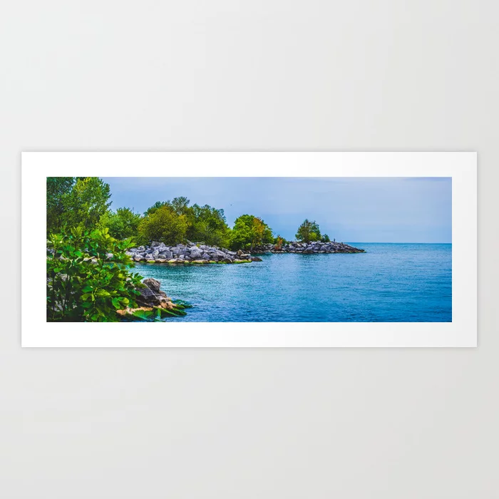 Scarborough Bluffs Landscape Panoramic Photograph III Art Print by lovefi