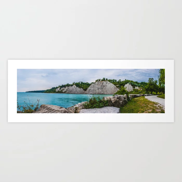 Scarborough Bluffs Landscape Panoramic Photograph Art Print by lovefi
