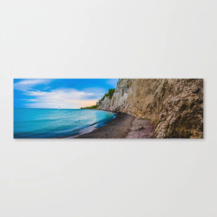 Scarborough Bluffs Landscape Panoramic Photograph V Canvas Print by lovefi