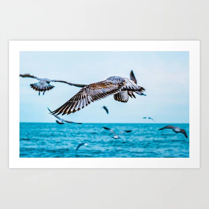 Flight Of The Flock Photograph Art Print by lovefi