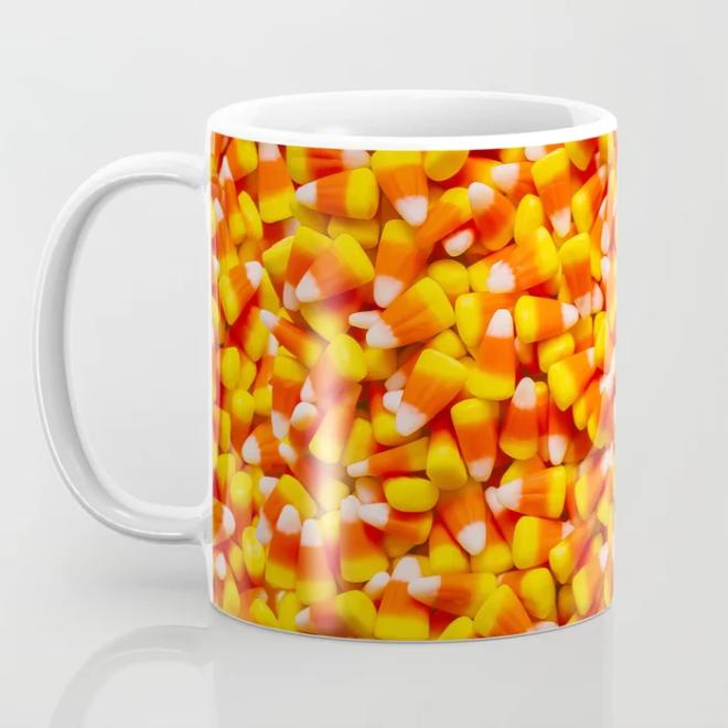 Candy Corn Halloween Candy Photo Pattern Coffee Mug by PatternsSoup