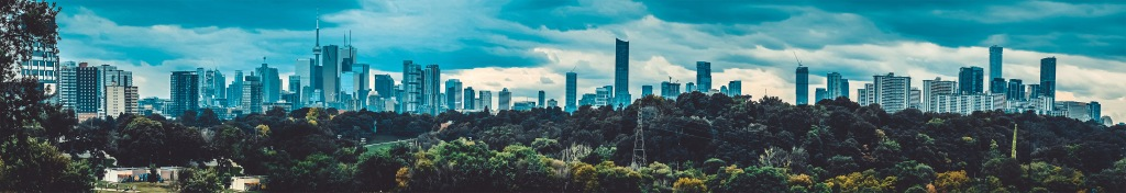 Toronto Cityscape Panoramic Photograph. Riverdale Park East Large. By Stephen Geisel, Love-fi