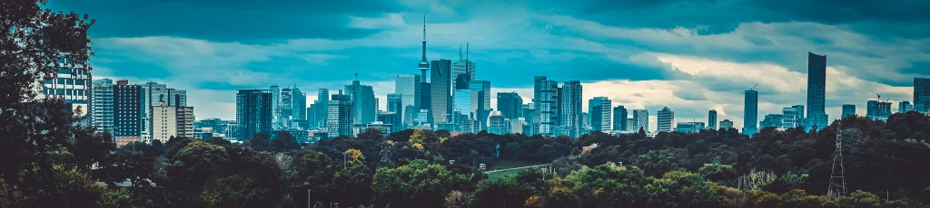 Toronto Cityscape Panoramic Photograph. Riverdale Park East Medium. By Stephen Geisel, Love-fi