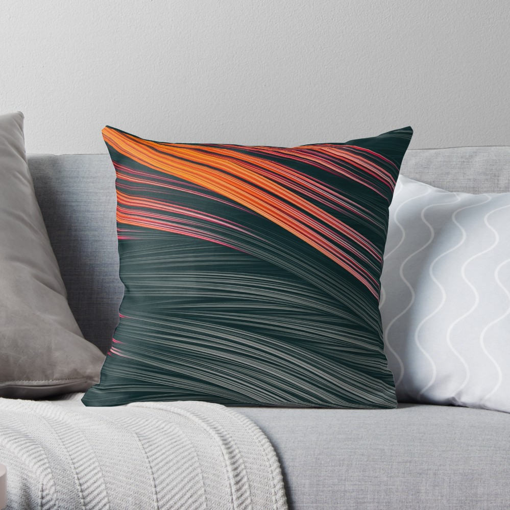 Ember Strands. Throw Pillow On Redbubble by lovefi