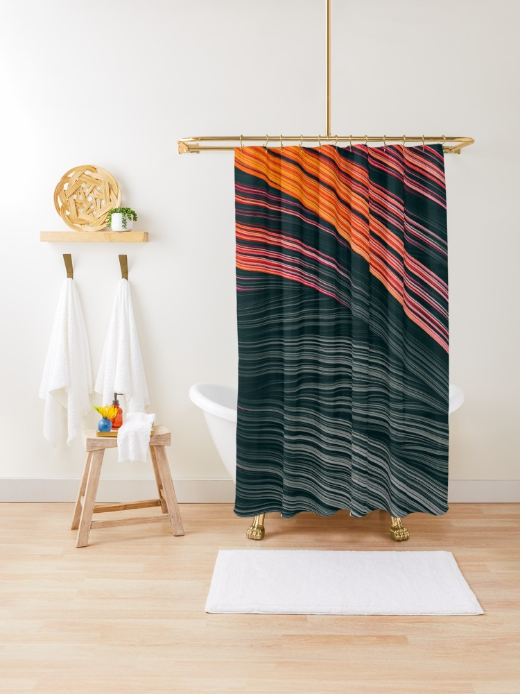Ember Strands. Shower Curtain On Redbubble by lovefi