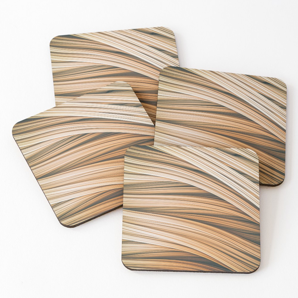 Beige Strands. Coasters on Redbubble by lovefi