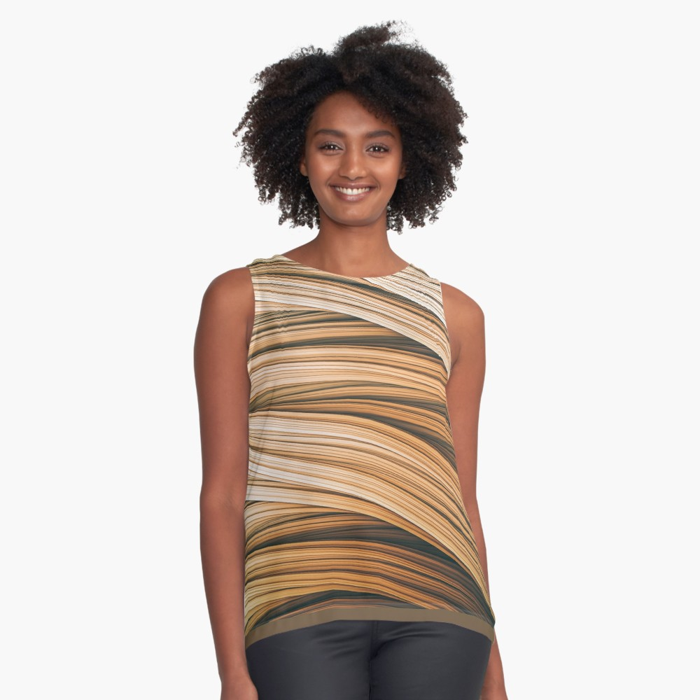 Beige Strands. Sleeveless Top on Redbubble by lovefi