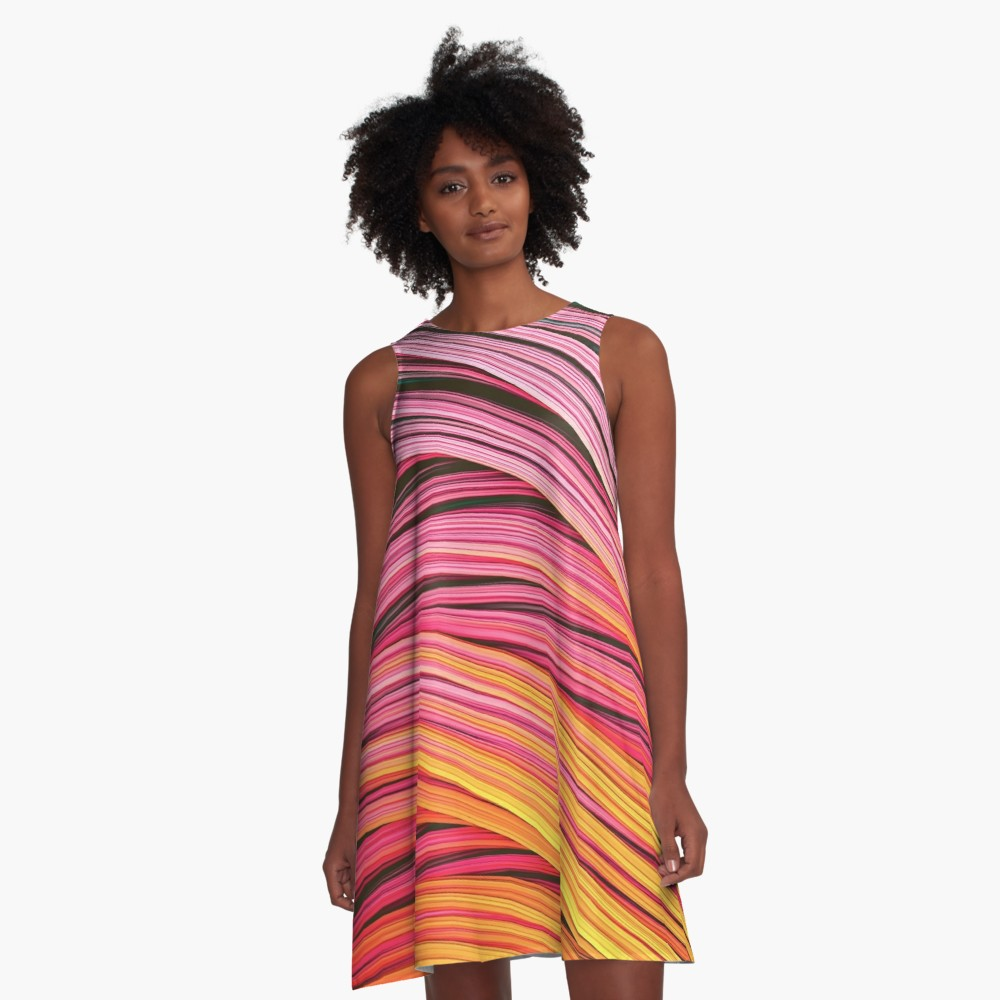 Pink & Heat Strands. Dress On Redbubble by lovefi