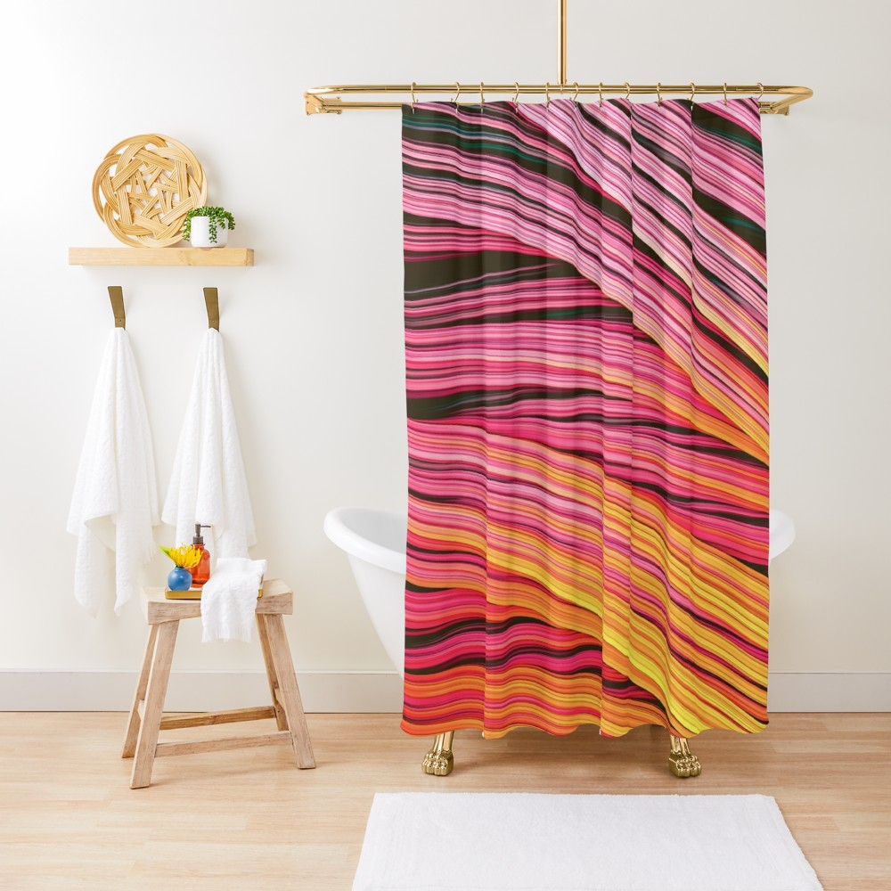 Pink & Heat Strands.  Shower Curtain On Redbubble by lovefi