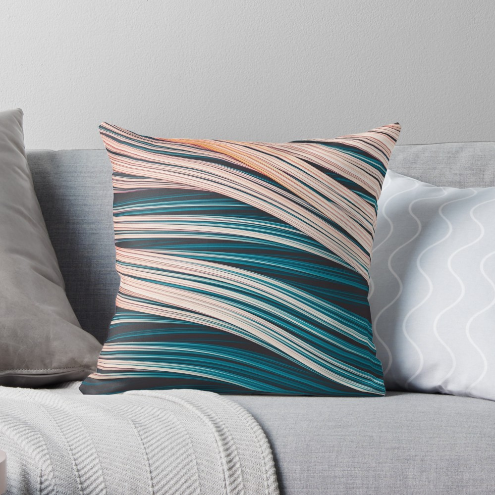 Vintage White and Blue Abstract Strands Throw Pillow On Redbubble By Love-fi