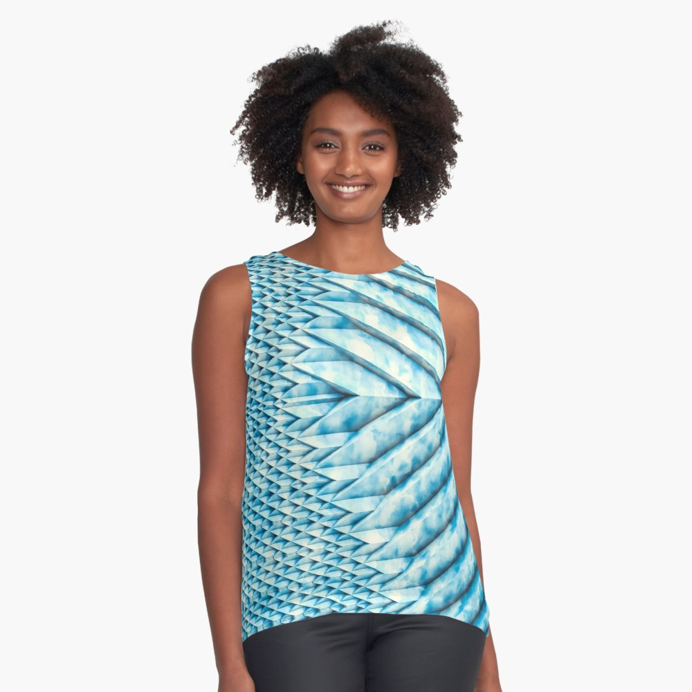 Blue Marble Sun Shards. Sleeveless Top on Redbubble  by lovefi
