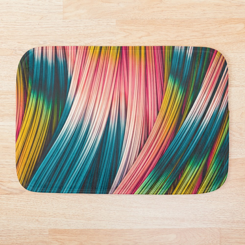 Bubble Gum Strand. Bath Mat On Redbubble  by love-fi