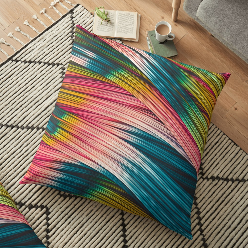 Bubble Gum Strand. Floor Pillow On Redbubble  by love-fi