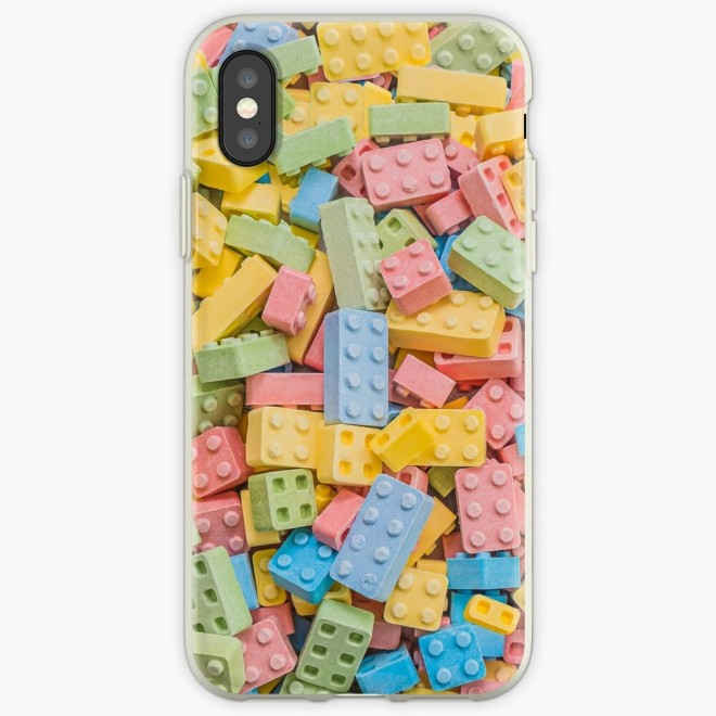 Candy Building Blocks, Multicolored Pastel Pattern Phone Case by Patterns Soup