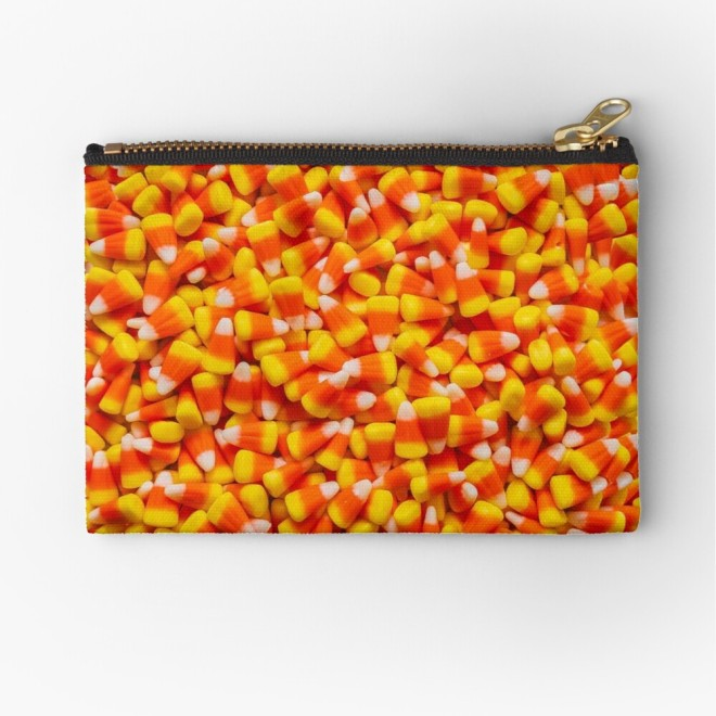 Candy Corn Halloween Candy Photo Pattern Pouch by Patterns Soup