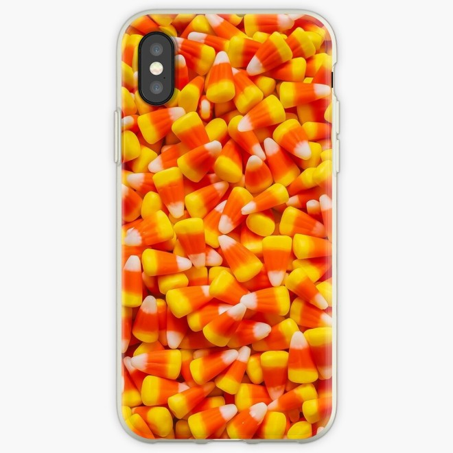 Candy Corn Halloween Candy Photo Pattern Phone Case by Patterns Soup