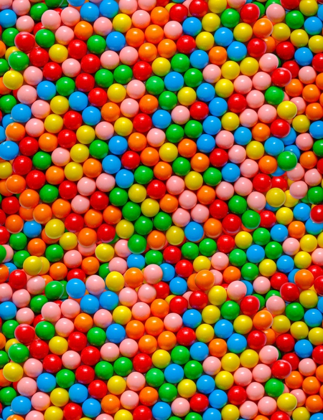 Mini Gumball Candy Photo Pattern by Patterns Soup