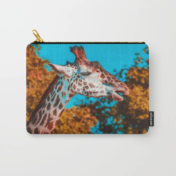 Gentle Giraffe II Photograph Carry-All Pouch by lovefi