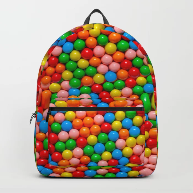 Mini Gumball Candy Photo Pattern Backpack by Patterns Soup