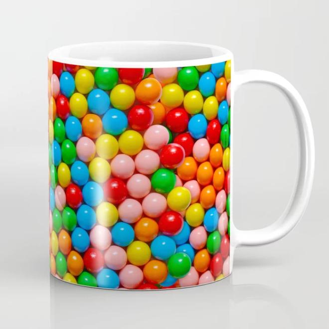 Mini Gumball Candy Photo Pattern Mug by Patterns Soup
