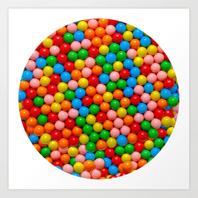 Mini Gumball Candy Photo Art Print by Patterns Soup