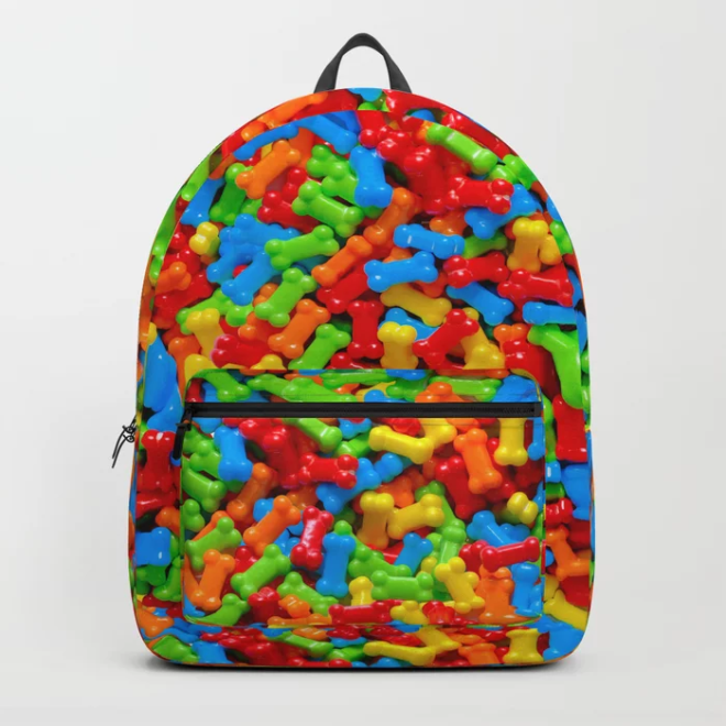 Dog Bones Multicolored Candy Pattern Backpack by PatternsSoup