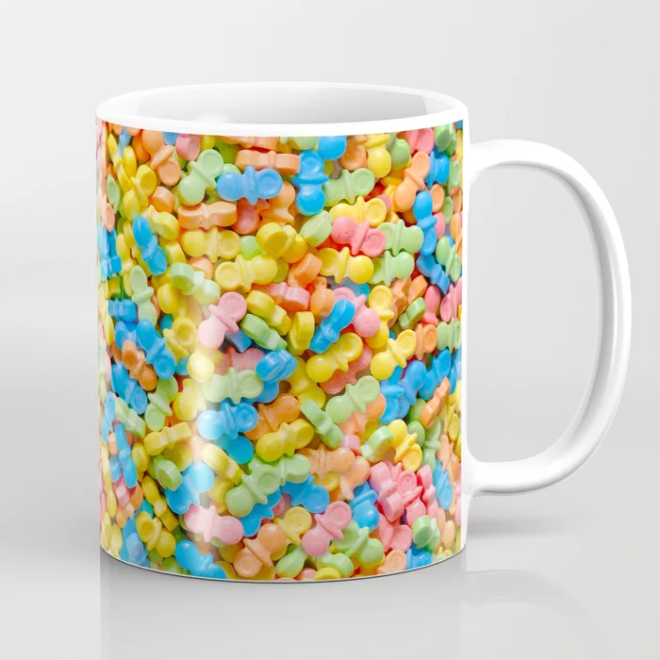 Mini Pacifiers Pastel Candy Pattern Mug  by Patterns Soup