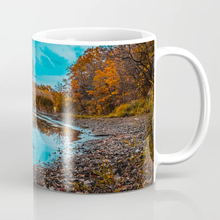 Autumn Creek. Photograph Coffee Mug by lovefi
