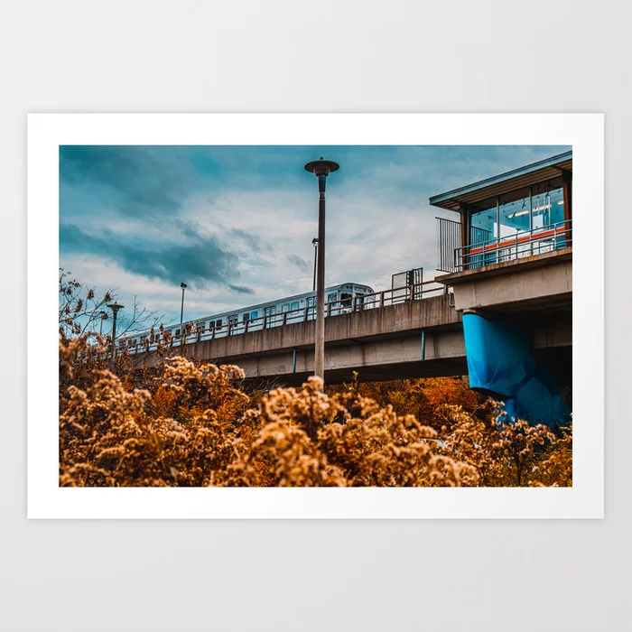 Autumn Old Mill Station, Toronto Photograph Art Print by lovefi