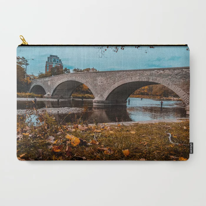 Old Mill Road Bridge Photograph Carry-All Pouch by lovefi