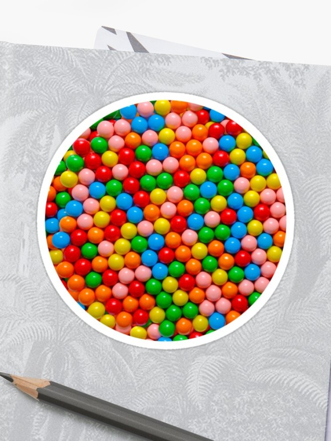 Mini Gumball Candy Photo Pattern Sticker by Patterns Soup