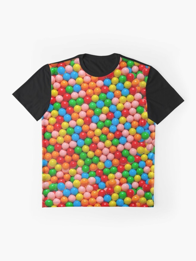 Mini Gumball Candy Photo Pattern Graphic Shirt by Patterns Soup
