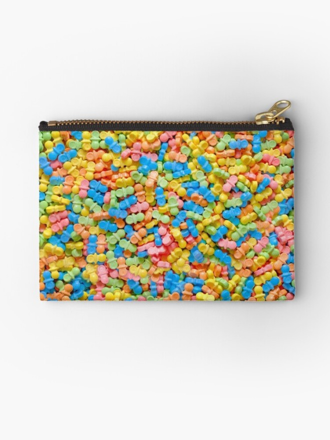 Mini Pacifiers Pastel Candy Pattern Zipper Pouch by Patterns Soup
