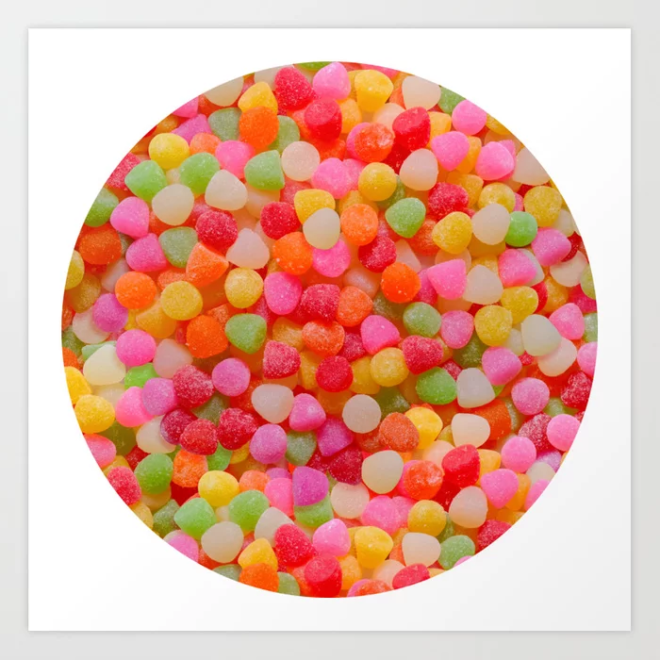 Gumdrop Candy Pattern Art Print by Patterns Soup