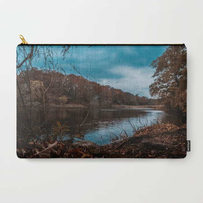 Autumn Pond Photograph Carry-All Pouch by lovefi