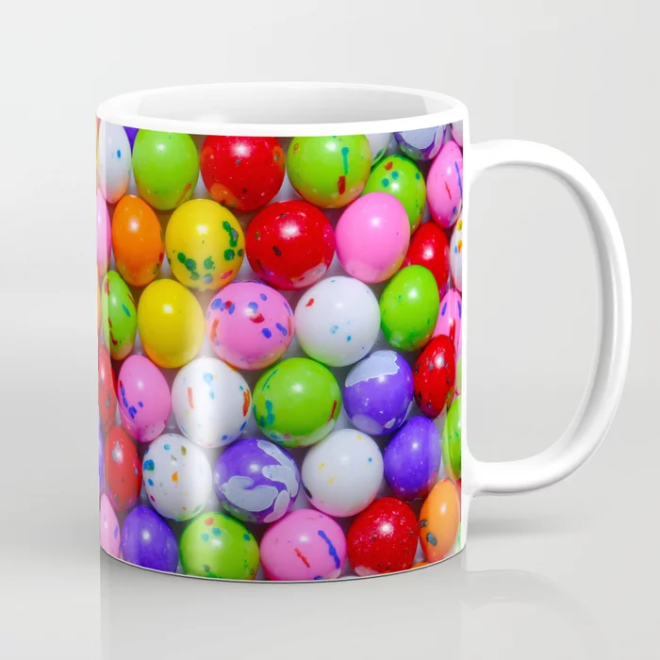 Jawbreaker Real Candy Pattern Coffee Mug by PatternsSoup