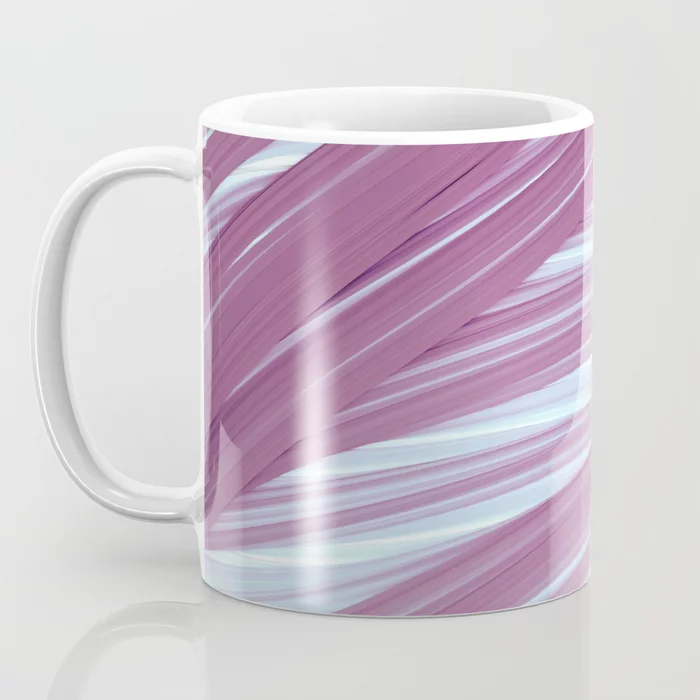 Violet and Light Strands. Abstract Design Coffee Mug by lovefi
